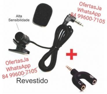 Fotos para Microfone de Lapela + Adaptador P3 NotePcCelular