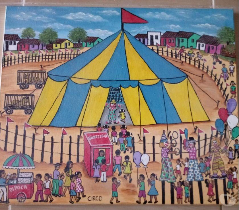 Fotos para Rosangela Borges Tema Circo Medida 60x50 Linda Tela