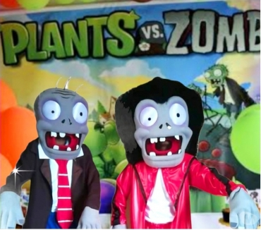 Fotos para Plants zombies Cover personagens vivos para festa infantil