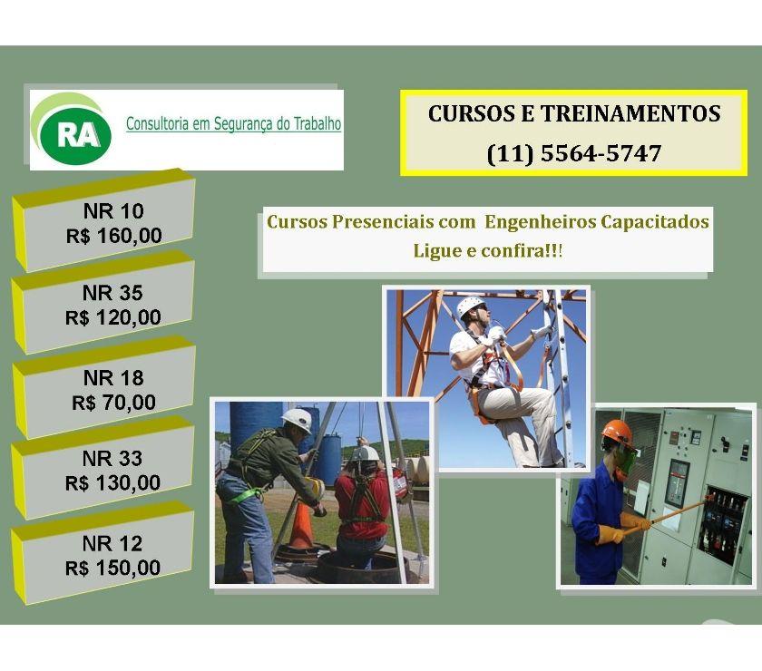 Outros cursos Sao Paulo SP Santo Amaro - Fotos para Preço Cursos NR-18, NR-35, NR-10 Santo Amaro e Socorro