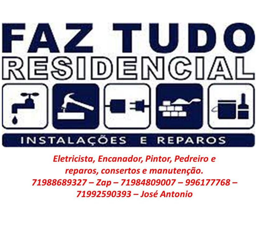 Reparo - Conserto - Reforma Salvador BA Itapuã - Fotos para Faz Tudo 24hs