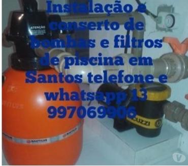 Fotos para Conserto e Instalação de Bombas de Piscina (motor) em Santos