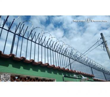 Fotos para cerca de arame, concertina, cercas para proteção de muros RJ