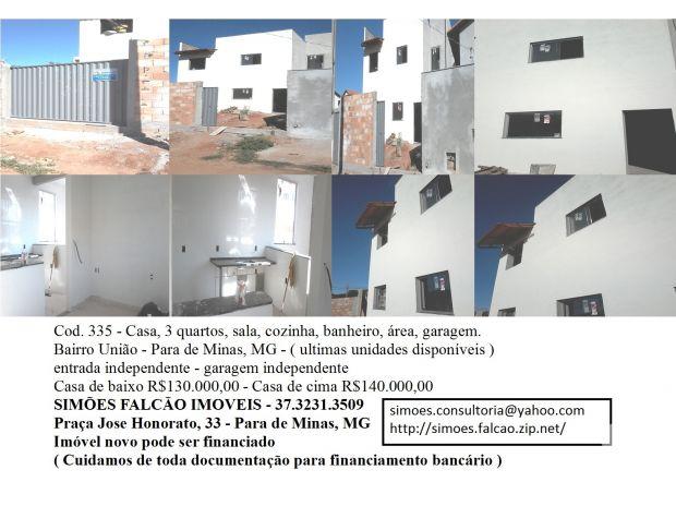 Fotos para Casa 3 quartos, Para de Minas, MG bairro Uniao