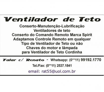 Fotos para VENTILADOR DE TETO CORDINHA CONSERTO