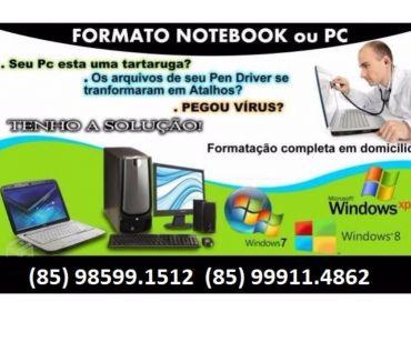 Fotos para Formatação de Notebook em Fortaleza