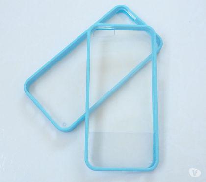 Fotos para Capa Case em SiliconeTPU azul Vidro Iphone 5 5s