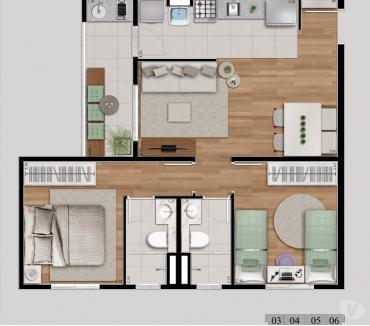 Fotos para Apartamento 2 dormitorios novissimo