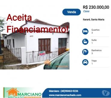 Fotos para Troco casa em Santa Maria por imóvel em Florianópolis