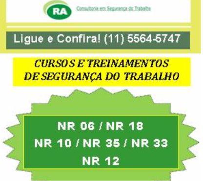 Fotos para CURSO NR35 - ELDORADO e DIADEMA - NR 35 R$ 100 - Confira!!!