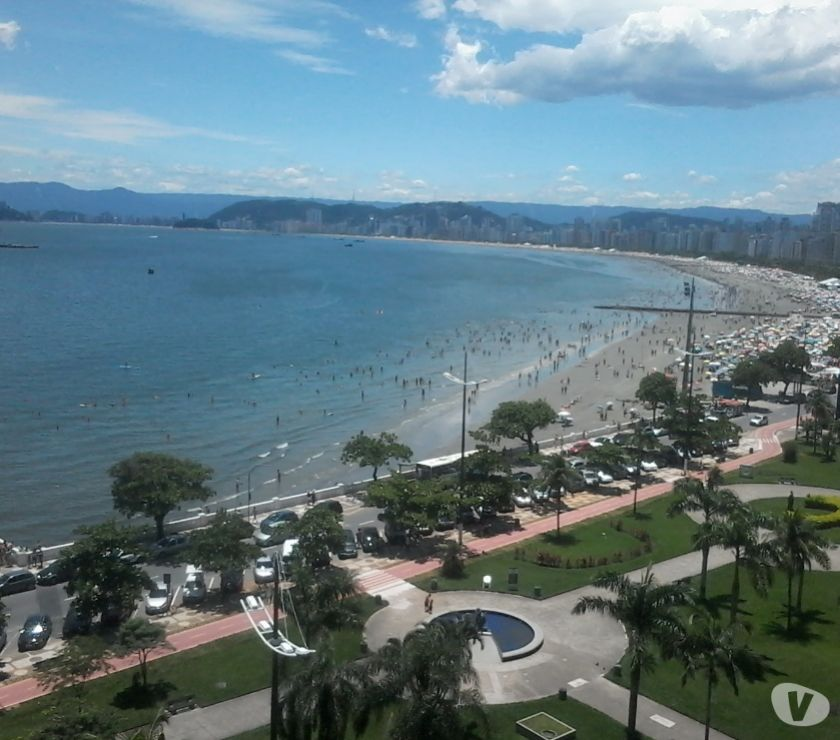 Aluguel temporada Santos SP - Fotos para Apartamento frente ao mar ponta da praia Santos, completo