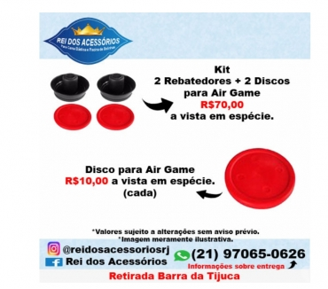 Fotos para Rebatedores 2 + 2 Discos para Air GameAero Hockey