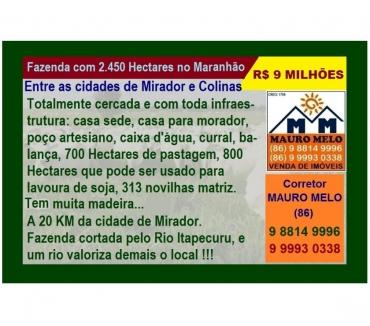 Fotos para FAZENDA NO MARANHÃO COM 2.450 HECTARES
