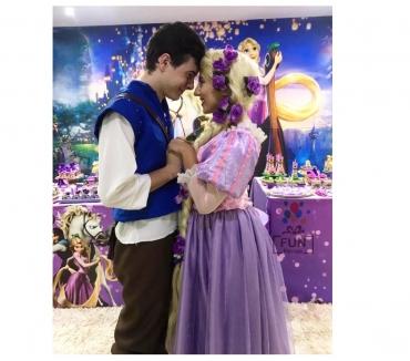 Fotos para Personagem Rapunzel e Flyn Para Festa Infantil BH e Regiao