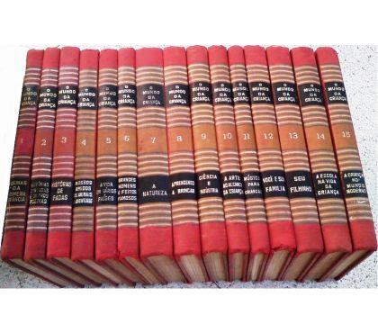 Fotos para O Mundo da Criança 15 Volumes Completa 1954 Capa Vermelha