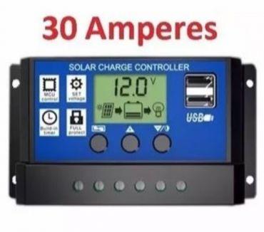 Fotos para Solar Controlador Carga Lcd 30a Usb Pwm Regulador Automático