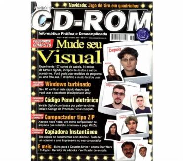 Fotos para Revista do cd rom e dvd-rom com o Cd várias edições