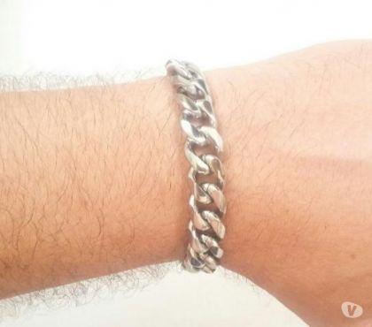 Fotos para Pulseira Bracelete de Aço Masculina 025