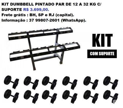 Fotos para Kit de Dumbell Pintado