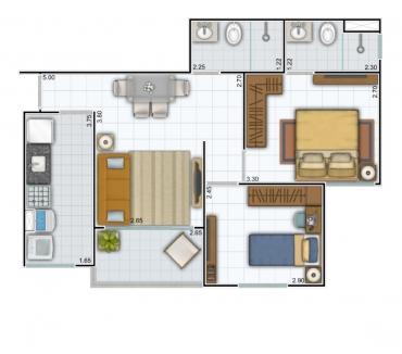 Fotos para Condominio Barra Sul 49,40m² Bairro Bela VIsta