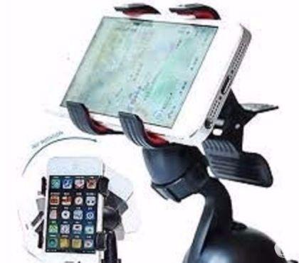 Fotos para Prendedor veicular p smartphones Gps de gancho para o vidro