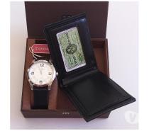 Fotos para Kit Relógio Mondaine & Carteira 0020