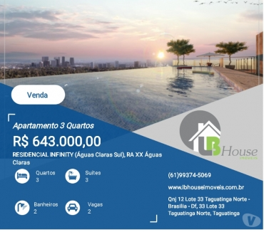 Fotos para Apartamentos à Venda em Águas Claras - Infinity Residence