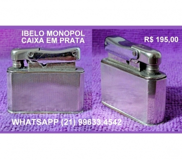 Fotos para Isqueiro antigo.Ibelo Monopol.Caixa em Prata