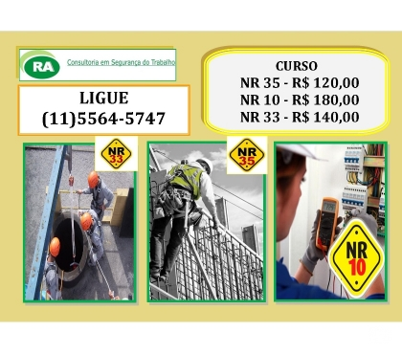 Fotos para Curso NR-10, NR-33, NR-35 Trabalho altura Bairro Santo Amaro
