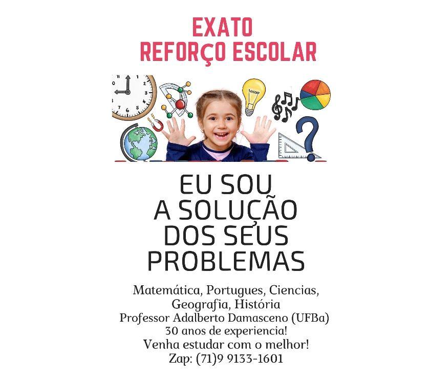 Professores particulares Salvador BA Pau da Lima - Fotos para Curso Exato - Reforço Escolar