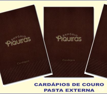 Fotos para CARDÁPIOS DE COURO- CRGRAFICA.LOJA2.COM.BR