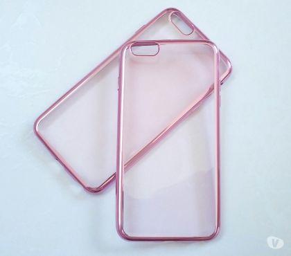 Fotos para Capa Case em SiliconeTPU Transparente Rosa Iphone 6 (4.7) P