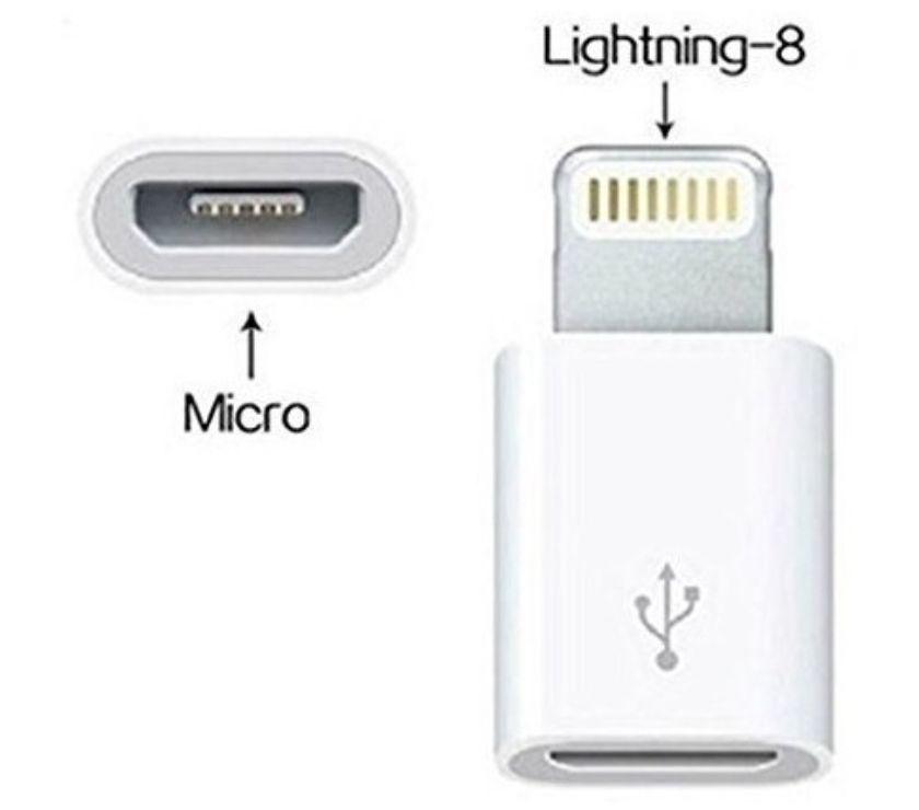 Fotos para Adaptador Micro Usb8 Pinos iPhone 5 6 7 8 iPad