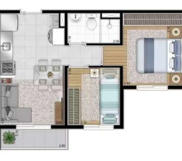 Fotos para Plano e Plano Mooca 2 dormitórios - Preço Planta Decorado
