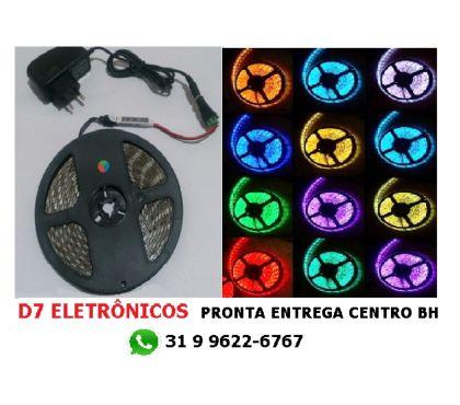 Fotos para Fita Led Rgb Color 5050 Rolo 5m Dimer Mantem Cor ao Ligar