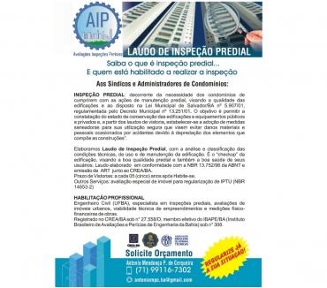 Fotos para INSPEÇÃO PREDIAL (LEI MUNICIPAL Nº 5.90701)
