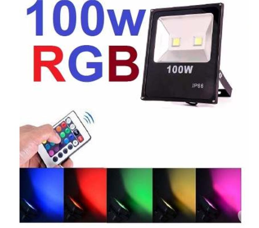 Fotos para Refletor Led 100w Holofote Rgb Colorido Bivolt Decoração