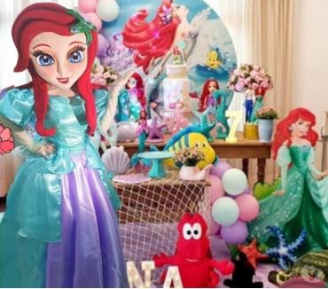 Fotos para Princesa Ariel Cover personagens vivos para festa infantil