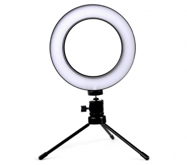Fotos para Ring Light 6 Polegadas com Tripé de Mesa USB LED Iluminador