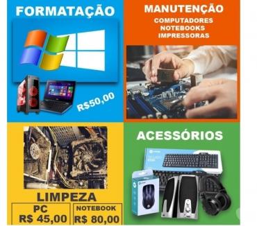 Fotos para Formatação PC e notebooks - Buscamos e entregamos