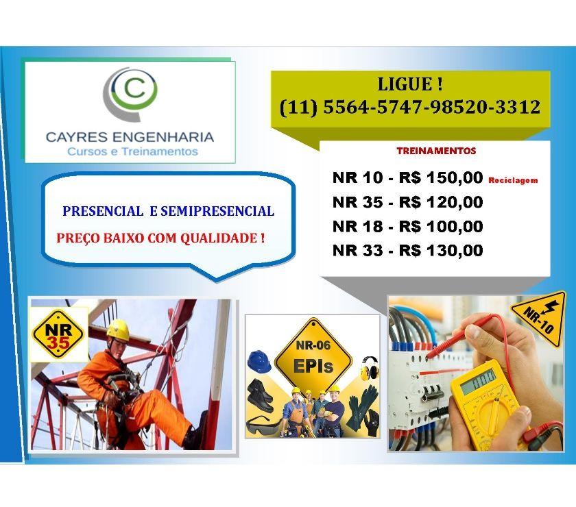 Outros cursos Sao Paulo SP Santo Amaro - Fotos para Diademas Curso NR 10 e NR 35 Preço Promocional -Diadema NR10