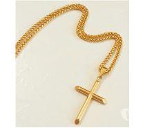 Fotos para Colar & Crucifixo 0110 Banhado em Ouro 18K