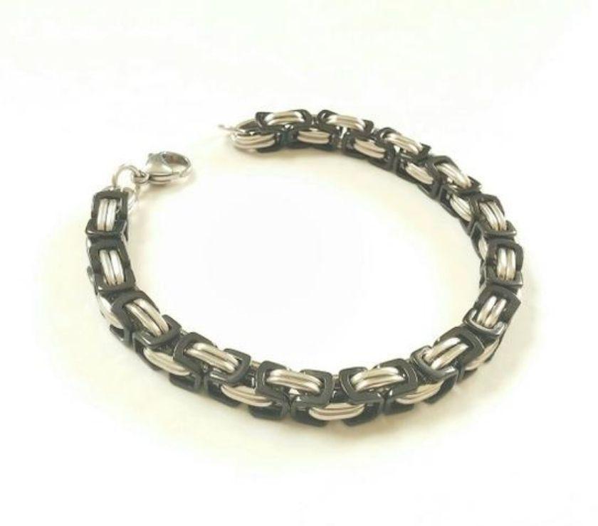 Fotos para Pulseira Bracelete de Aço Masculina 026