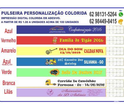 Fotos para PULSEIRA PERSONALIZADAS COLORIDA