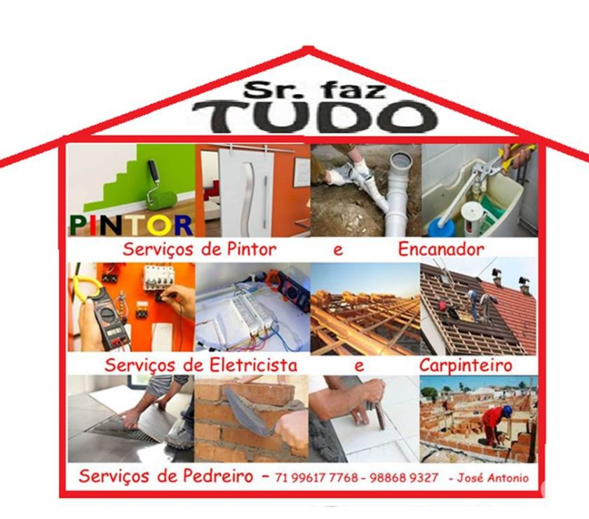 Fotos para Encanador, Eletricista, Pintor, Pedreiro