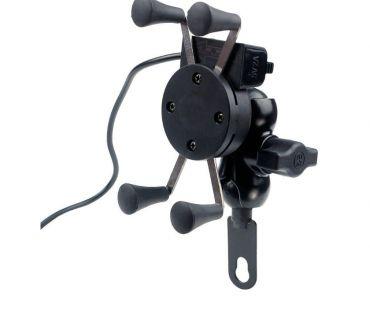 Fotos para Suporte Celular Garra em Metal + USB 5V 2A Motocicleta Top