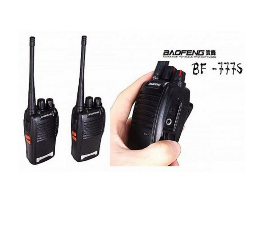 Fotos para 2 Radios de Comunicação Ht Uhf Vhf 16 Canais Antena 777s