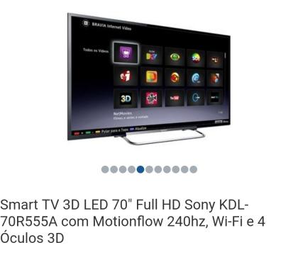 Fotos para TV SONY 70 POLEGADAS 3D SMART