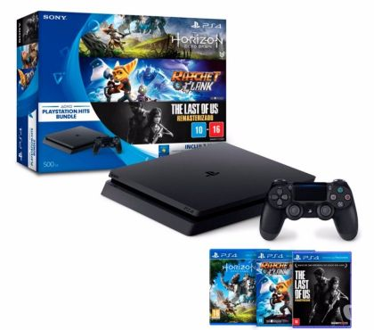 Fotos para Playstation 4 500GB Sony Playstation Hits Bundle