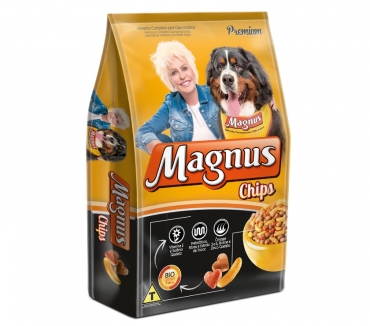 Fotos para Ração Magnus Premium Chips Cães Adultos - 25 kg